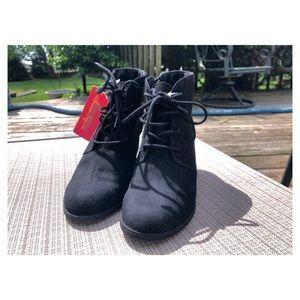 American Rag   Wedge   Black   Ankle Booties  